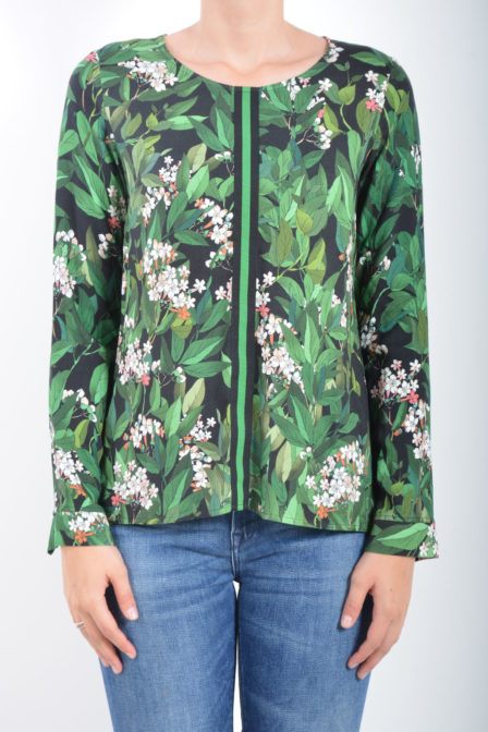 Geisha long sleeve black/green
