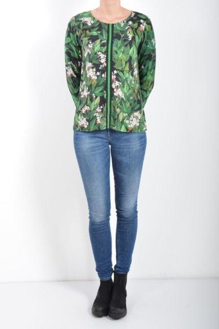 Geisha long sleeve black/green