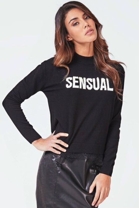 Guess addy sweater black