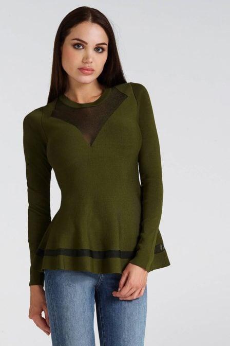 Guess becca sweater dark pine