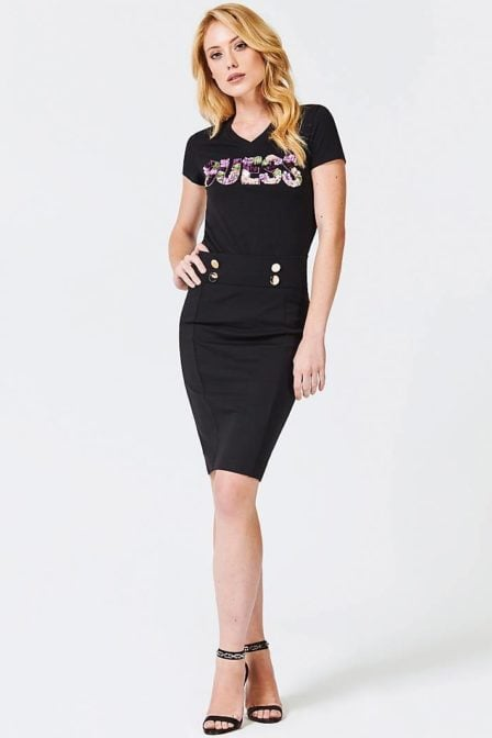 Guess applique logo shirt black