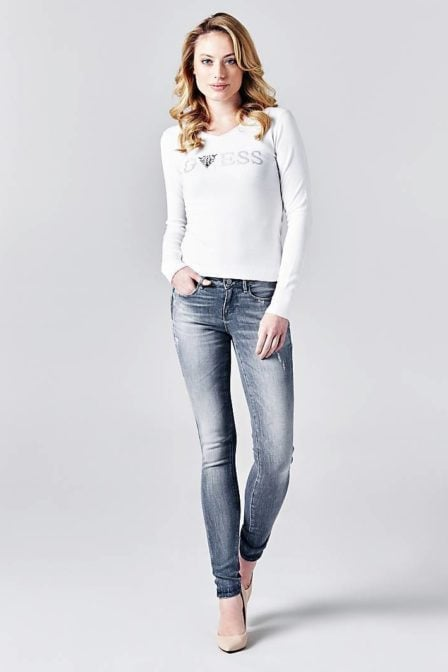 Guess jegging with abrasions grey