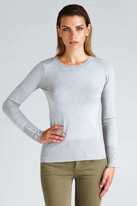 Guess logo detail sweater grey