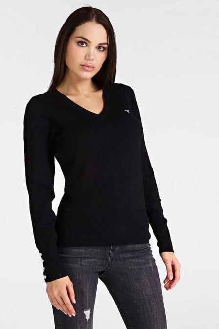 Guess v-neck sweater black