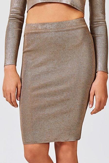 Guess woven skirt bronze