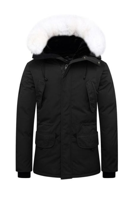 Helvetica parka expedition pure black