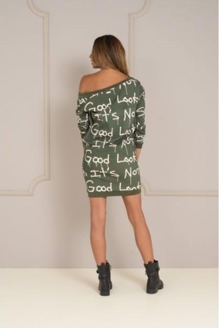 Maria tailor dale dress deep green