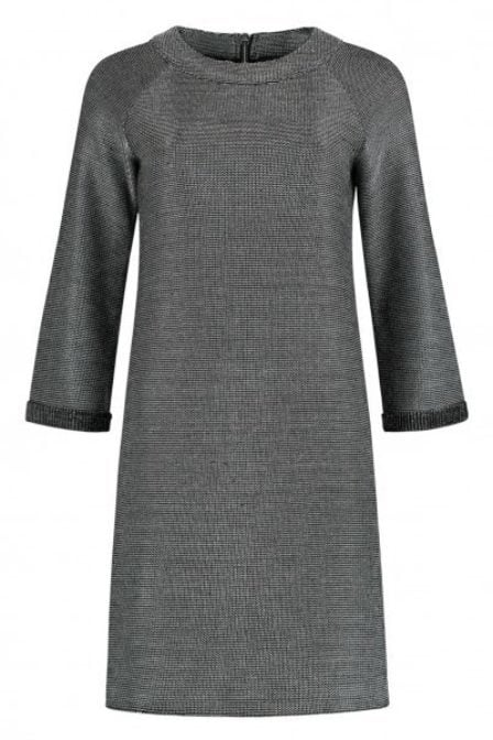 Nikki gun metal fay oversized jurk grijs