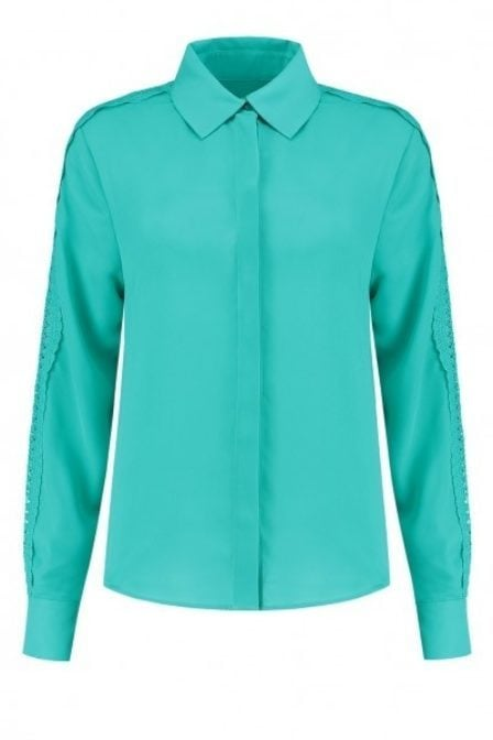 Nikkie sara basic blouse groen