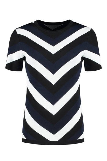 Nikkie by nikkie kasur top zwart/wit/blauw