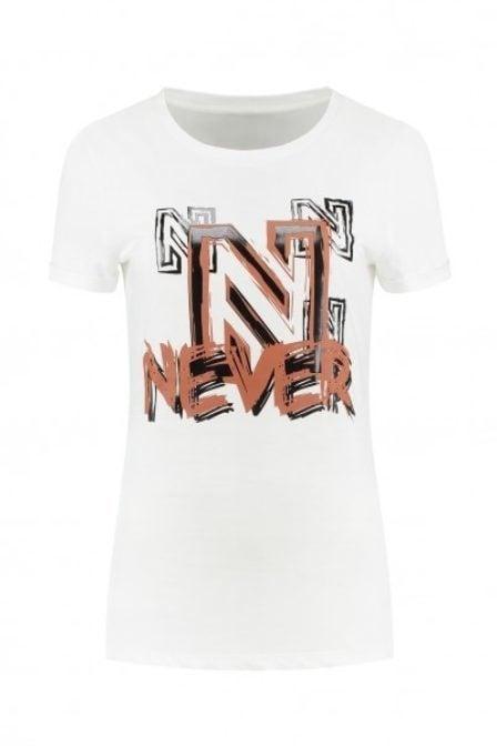 Nikkie by nikkie never logo shirt wit
