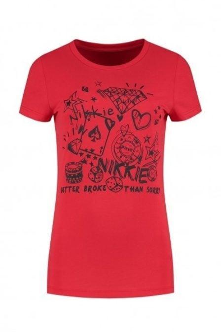 Nikkie by nikkie scribble shirt rood