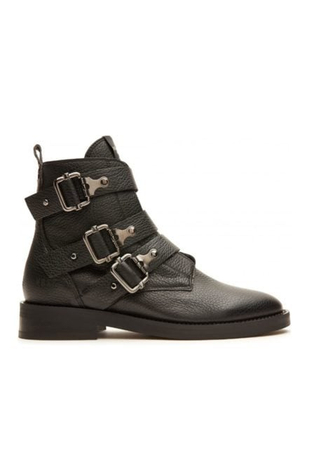 Nubikk sia buckle black grain boots