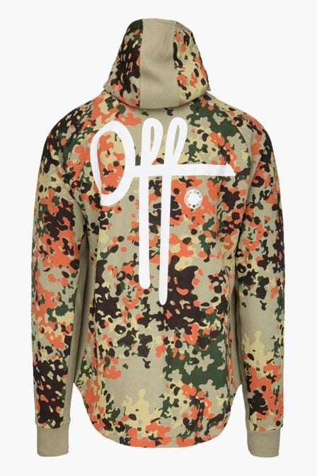 Off the pitch hoodie full camo