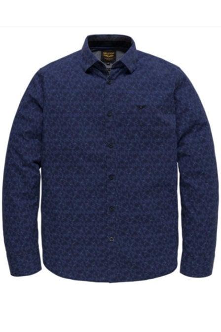 Pme legend poplin print herbie overhemd blauw
