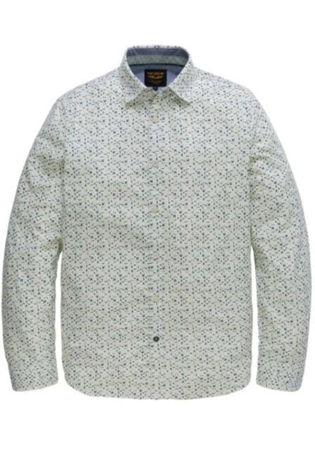 Pme legend poplin print sherman blouse groen