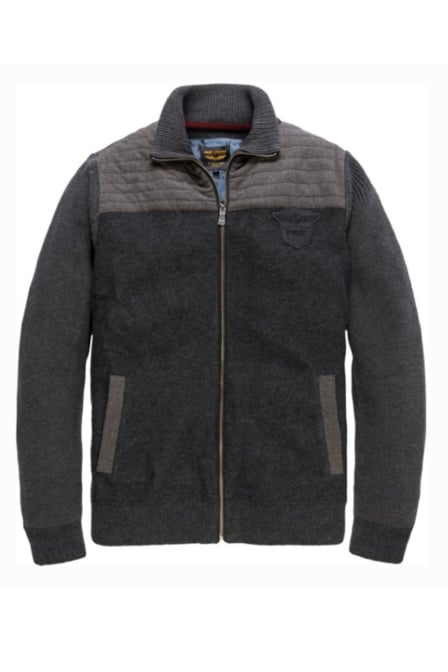 Pme legend zip cardigan silver birch