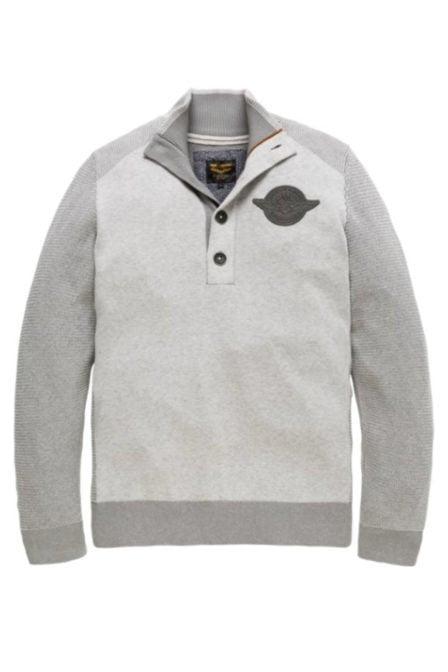 Pme legend cotton plated pullover bone white melee