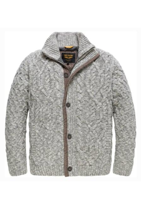 Pme legend soft button cardigan grey melee