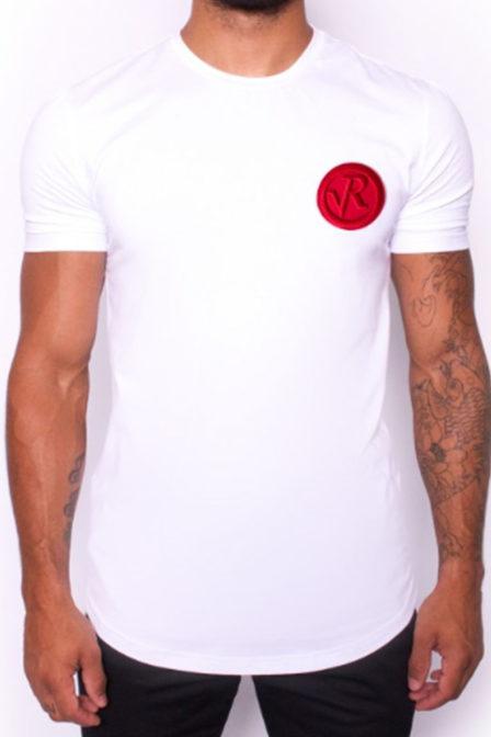 Radical lucio badge shirt white/red