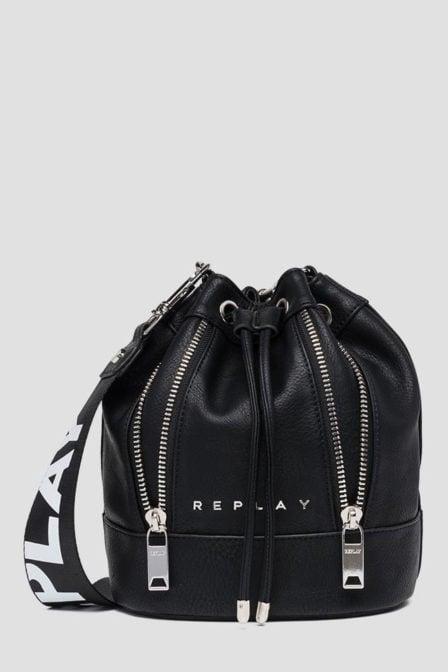 Replay bucket bag zwart