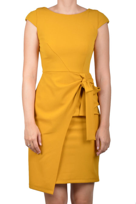 Rinascimento dress yellow mustard