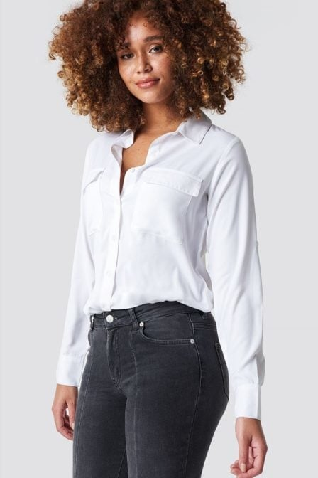 Rut and circle double pocket blouse wit