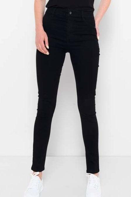 Saint tropez high waist jeans zwart