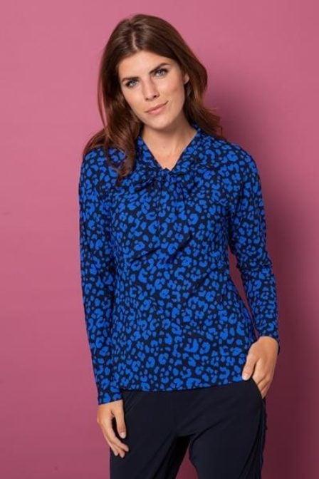Studio anneloes berdie shirt ls dark blue kobalt