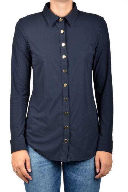 Studio anneloes poppy gold button blouse dark blue