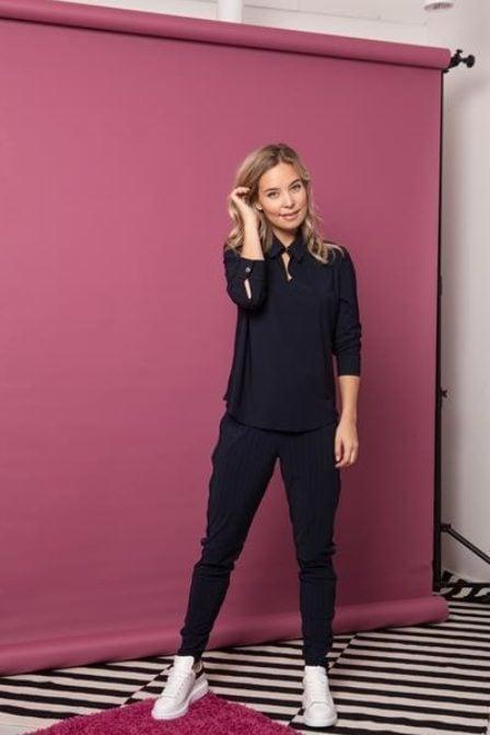 Studio anneloes back blouse dark blue