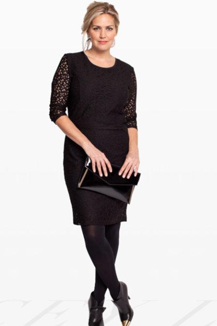 Studio anneloes stacey lace jurk zwart