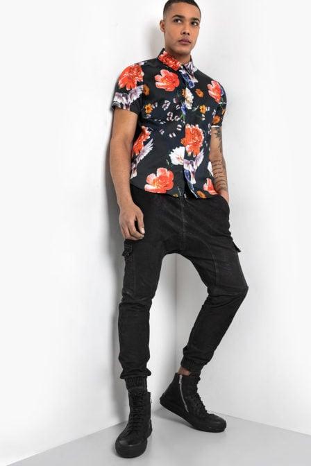 Tigha nilson overhemd zwart
