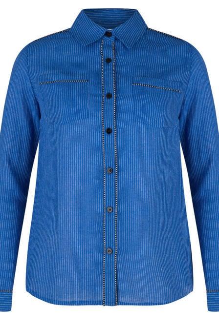 Wanderlust babylon blouse blauw gestreept