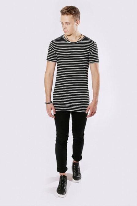 Zumo international schio big stripe shirt black/white
