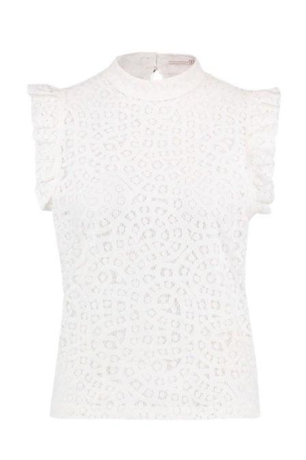 Aaiko floria lace top wit