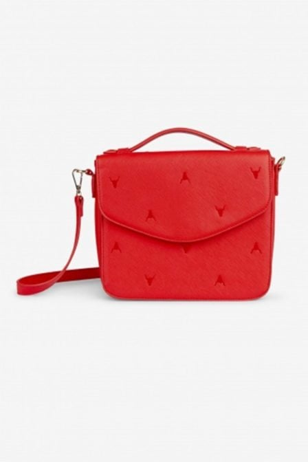 Alix fake leather bag small orange red