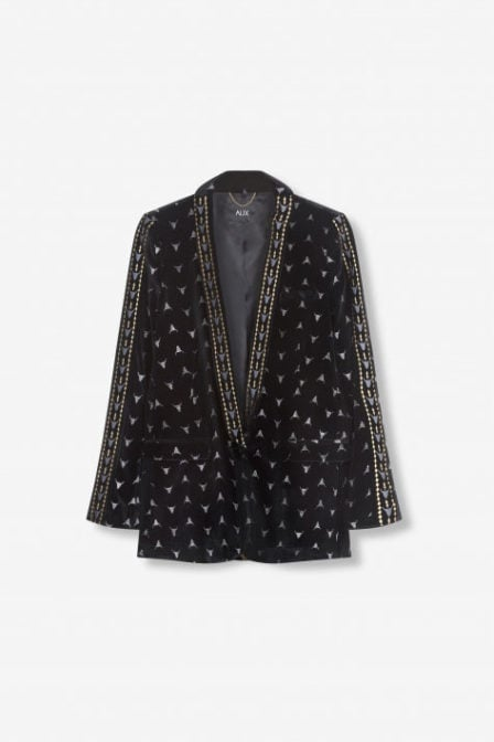 Alix the label velvet blazer zwart
