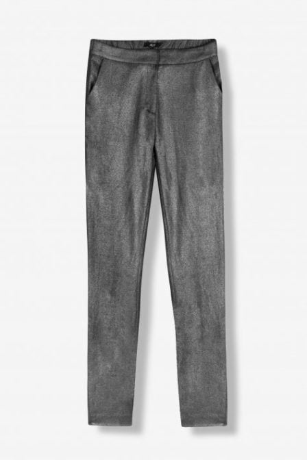 Alix the label foil stretch pants zilver