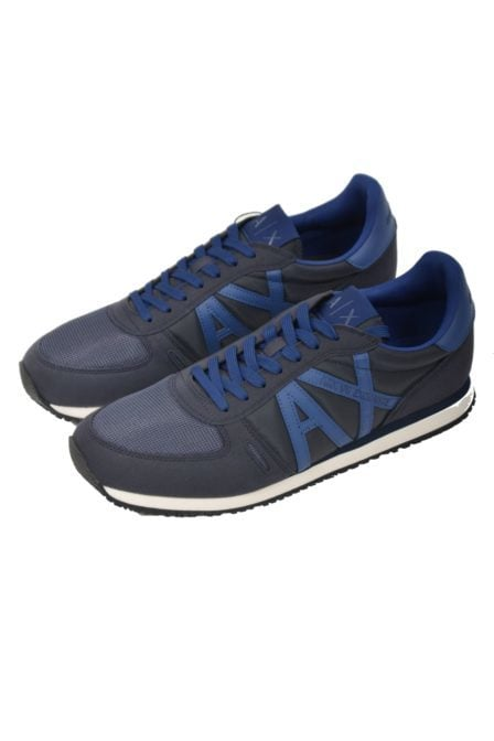 Armani man leather sneakers navy
