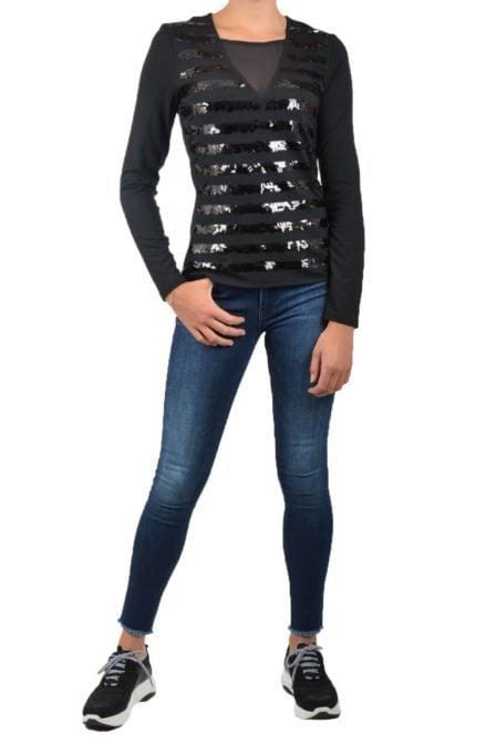 Armani exchange jersey maglia black