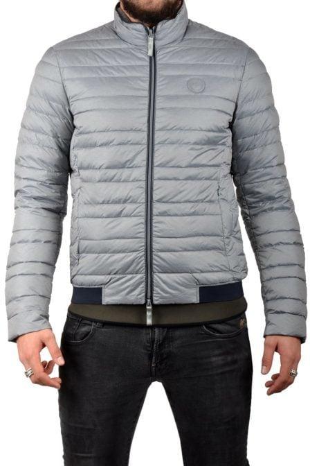 Armani man woven piumino grey/navy
