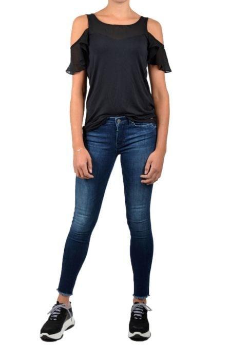 Armani jersey top black