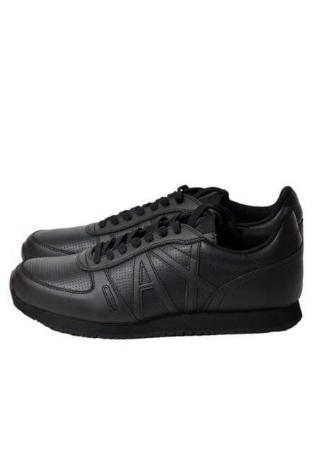 Armani leren sneaker zwart