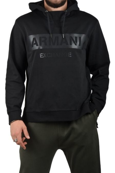 Armani man jersey felpa black