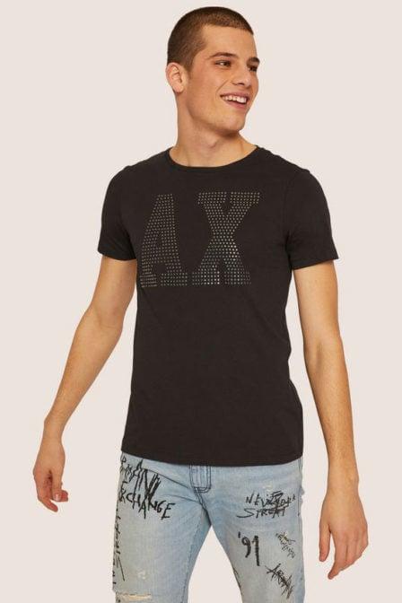 Armani man jersey t-shirt black