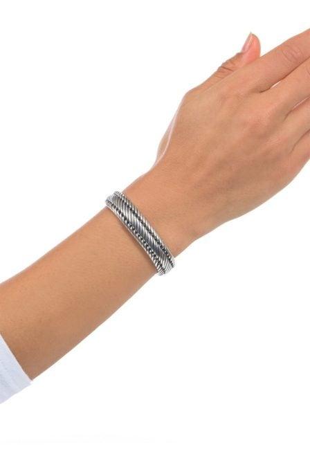Buddha to buddha edwin small bracelet silver