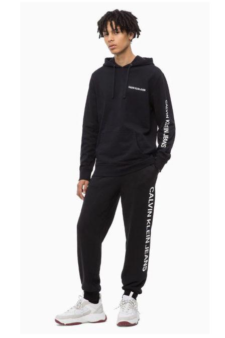 Calvin klein hoodie met logo zwart