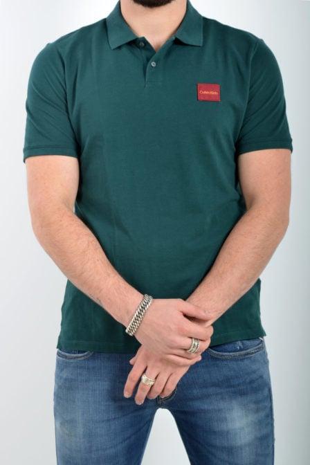 Calvin klein refined pique logo green