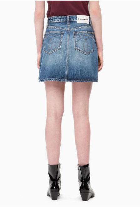 Calvin klein mini skirt keeling blue